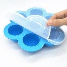 Безопасный силиконовый контейнер для детского питания с 7 отверстиями, коробка для хранения грудного молока и фруктов, морозильная камера, лоток, чашка для свежести, форма для торта T2150