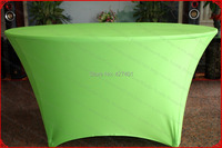 Apple Green Lycra/Spandex Table Cover/Tablecloth/Table Runner/Chair Covers for Wedding/Hotel/Banquet/Party/Home decor&textile