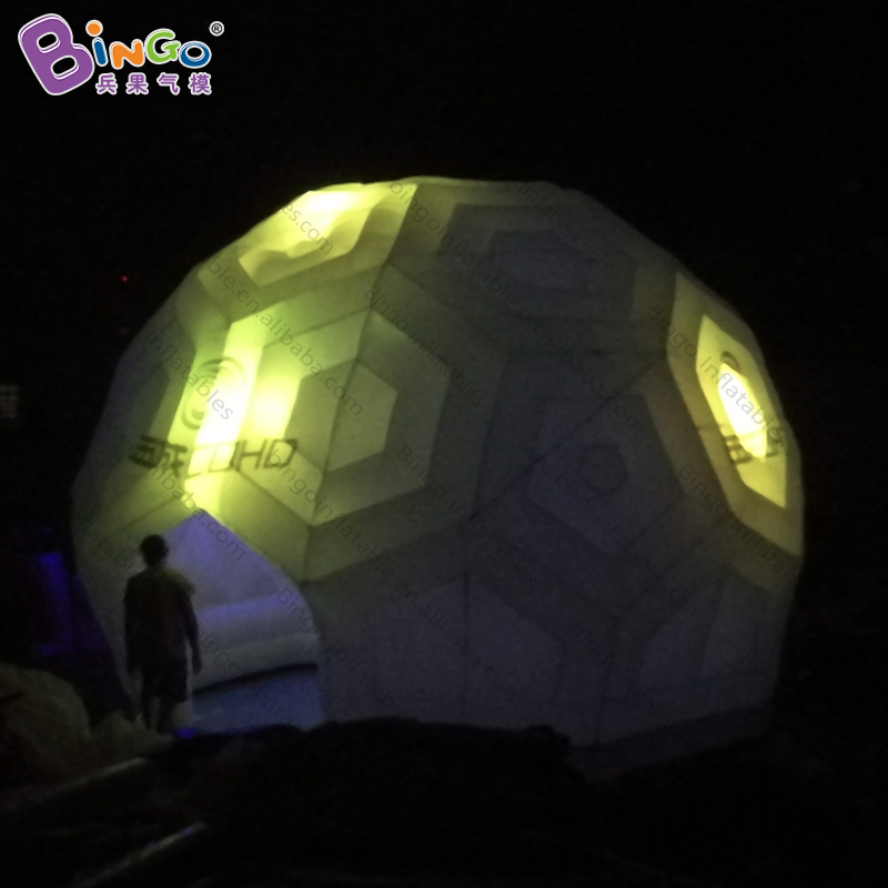 Professional Sale Personalized 6x4.5 Meters Inflatable Soccer Dome Tent / Inflatable Football Dome / Inflatable Disco Dome Toy Tent