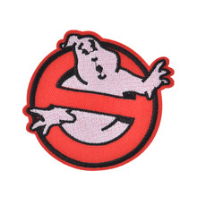 Nuovo Ghostbusters Nessun Fantasma Movie Comics Logo Giacca Bambino Del Bambino di trasporto T shirt Patch Iron on Ricamato Simbolo di Stoffa Distintivo Segno costume(China)