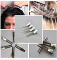 Hairdressing Double  Prong Pin Curl Setting Section Hair Clips 50pcs Metal Alligator Clips Silver  Hairpins for hair extensions
