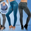 Leggings Jeans Women Denim Pants with Pocket Slim Jeggings Fitness Plus Size Leggings S-XXL Black/Gray/Blue HT