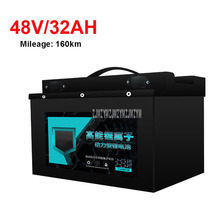 48V 32AH Electric Bike 18650 Lithium Battery For 800-1200W Motor Professional Ebike Bicycle Max Mileage 160km