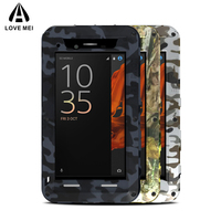 LOVE MEI Camouflage Aluminum Metal Case For Sony Xperia XZ Cover Armor Shockproof Life Waterproof Case For Sony Xperia XZs Coque