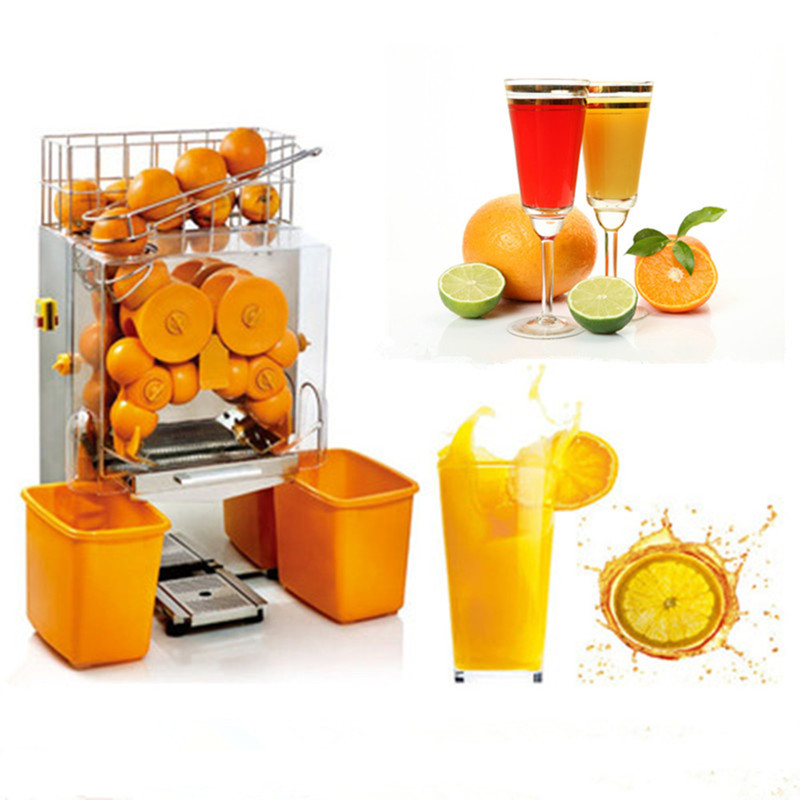 120W commercial orange stainless steel juicing machine oranges lemon pomegranate juicer machine juice orange printing 220 v 110v blood oranges