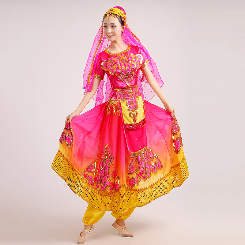 603e7896c Aliexpress.com : Buy 2017 Real Disfraces New Uighur Costumes Chinese Folk  Dance Dress Xinjiang Characteristic Clothes Belly Indian Performance Wear  from ...