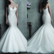 La MaxPa Sweetheart Mermaid Wedding Dresses Floor Length