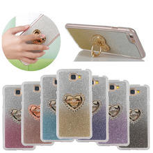 For Huawei Y5ii CUN-U29 CUN-L21 Y5 ii Case Heart-shaped with 360 Rotate Ring Holder Glitter Gradient Color Case For Huawei Y 5ii сотовый телефон huawei y5 ii cun u29 black