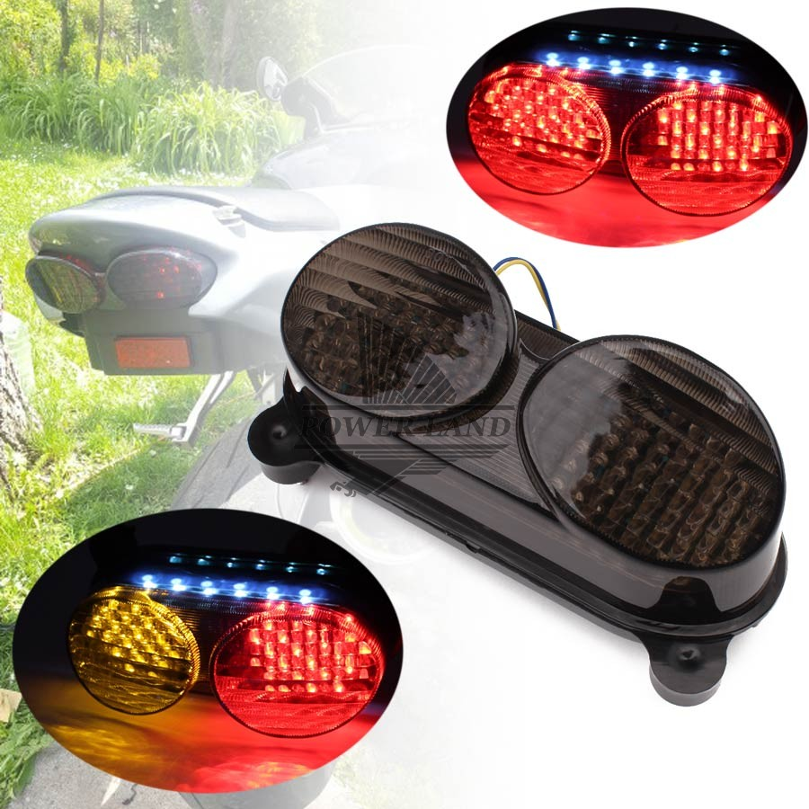 Motorcycle Led Smoke Lens Integrated Led Rear Tail Light