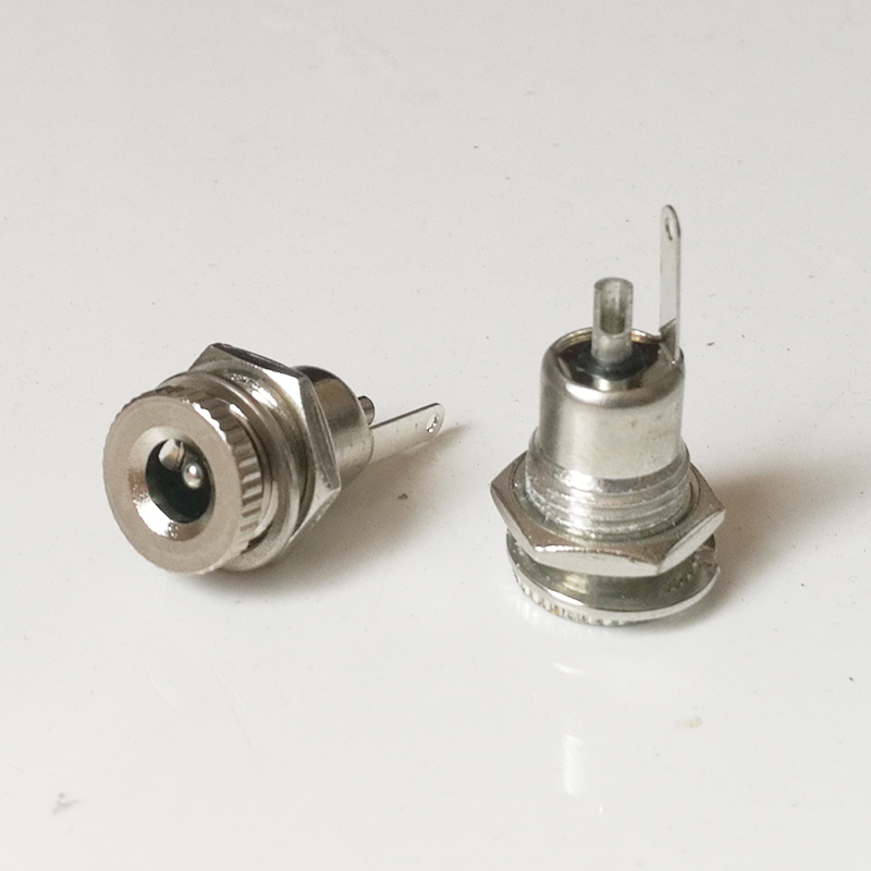 5.5mm X 2.1mm 5.5mm X 2.5mm DC Power Jack Socket Female Panel Mount Connector