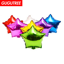 Decorate Home 5inch 10 pieces balloons,star foil balloon wedding event christmas birthday party HY-74