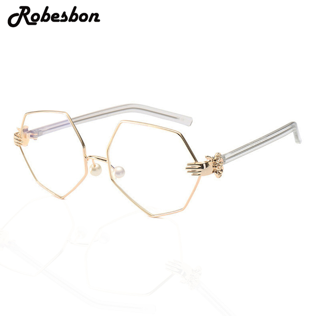 Hot Sale New Fashion Special Gold Glasses Frames for Women Classic ...