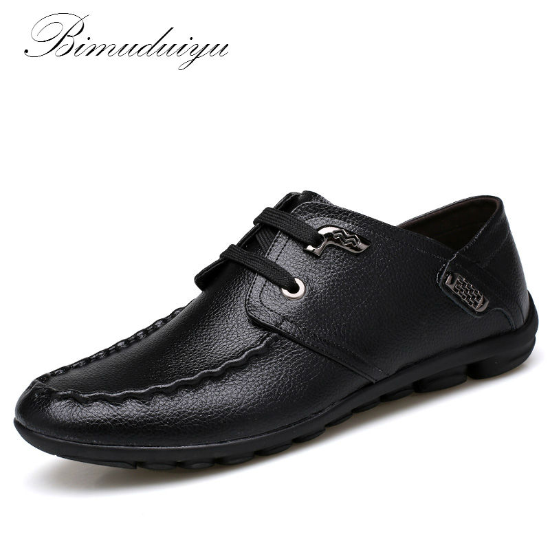 BIMUDUIYU Brand Warm in Winter Spring Summer Casual Flat Shoes Classic Mens Loafer Shoes Breathable Comfortable Driving Shoes