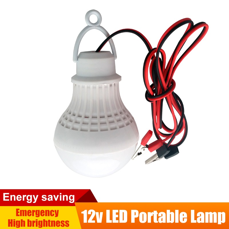 9w 12w 12V DC LED-tentlicht SMD 5730 Draagbare LED-lamp Outdoor Camping Nachtvissen Opknoping Batterij Verlichting Koel Wit