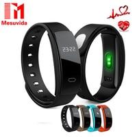 Mesuvida QS80 Smart Bracelet Heart Rate Blood Pressure Fitness Tracker Smart Electronics 0.42 inch OLED Wristband for BT Phones