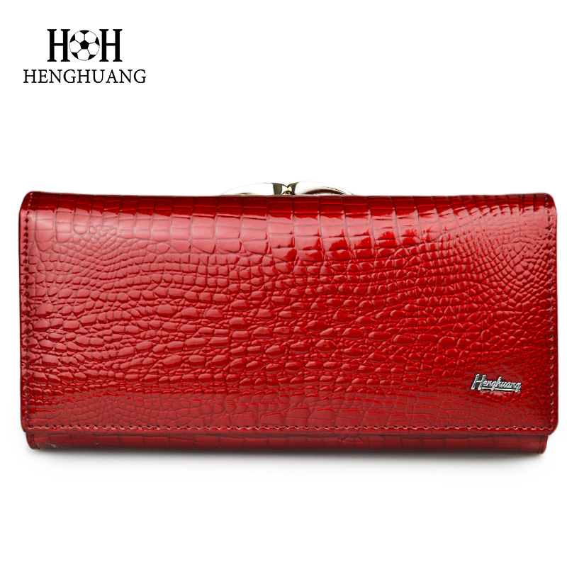 HH Womens Purses Lady Wallets Alligator Long Hasp Zipper women Purse Ladies Clutch Bag Female Luxury Coin Card Holder Purse in Wallets from Luggage Bags