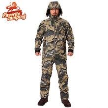 2017 Hunting suiCamouflage Outdoor Jacket Men  Waterproof Hunting Clothes  Windbreaker Jacket Coat The same paragraph sitka