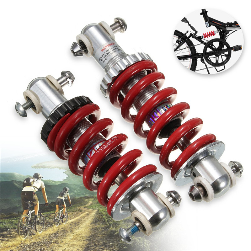 купить Aluminum Alloy 125mm/150mm KL-400A Bicycle Shock Absorber Front Rear Shock Absorber For Mountain Bike Folding Car Folding Bike по цене 597.7 рублей