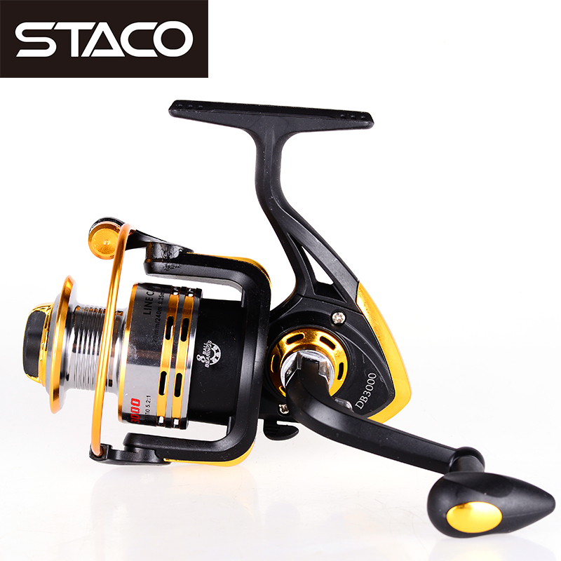 STACO DB3000 Fishing Reel Saltwater Freshwater 5.2:1 8BB Metal Spinning Reel Seat Ocean Boat Fishing Stream fishing reel handle