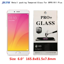 9H Tempered Glass For OPPO R11 Plus Screen Protect Toughened Protective Film Free shipping + retail package цена 2017