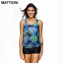 MATTIONI Women Tankini High Waisted Print Swimsuit Swimwear Body Suit Swimsuit Swimwear Women's Swimming Bathing Suit Beachwear