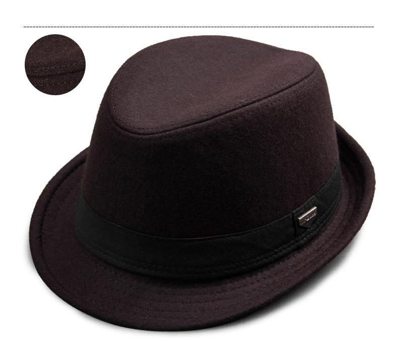 vintage fedora hat black fedora hats for men wool felt hat mens hats fedoras mens fedora hats winter vintage hat jazz hat (11)