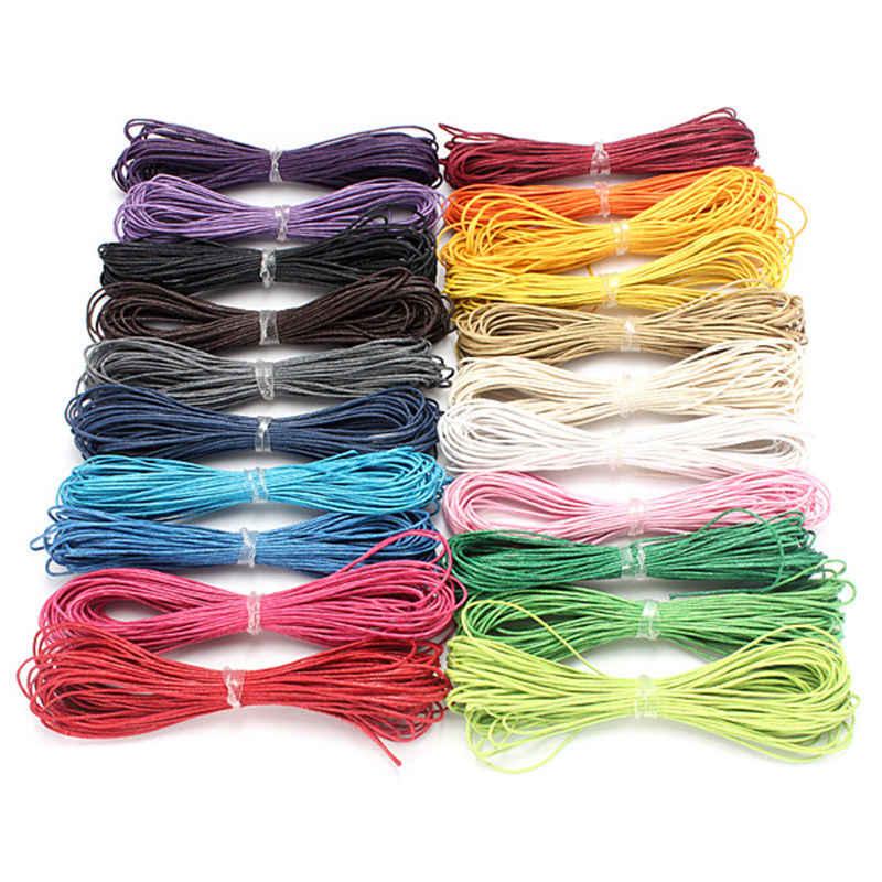 4 kleuren Keuze 10 meters 1mm Gewaxt Leer Draad Wax Katoenen Koord String Riem Ketting Touw Bead Voor shamballa armband