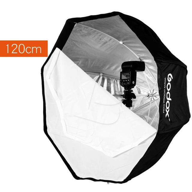 120 سنتيمتر/47in Godox المحمولة المثمن الفوتوغرافي Softbox مظلة برولي العاكس ل Speedlight فلاش