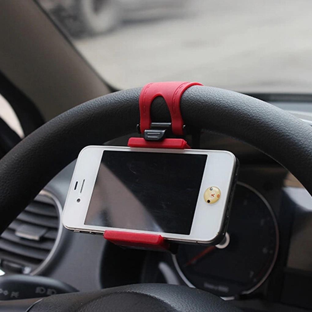 Car Steering Wheel Phone Clip Mount Holder Universal Bike Auto Camera GPS Stand Bracket for iPhone Samsung steering wheel phone holder