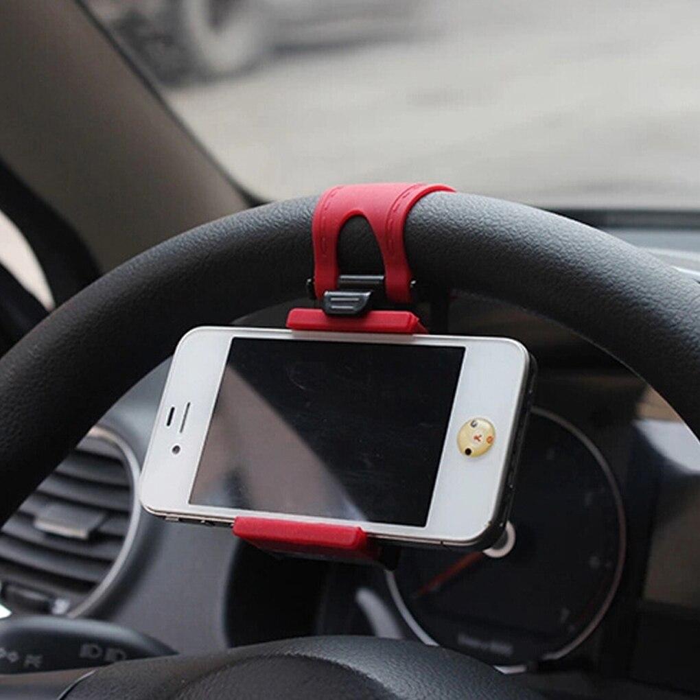 Car Steering Wheel Phone Clip Mount Holder Universal Bike Auto Camera GPS Stand Bracket for iPhone Samsung