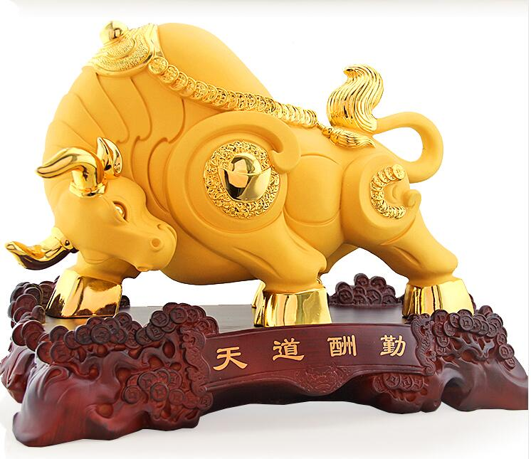 Feng Shui lucky taurus cattle business office decoration of Wall ...