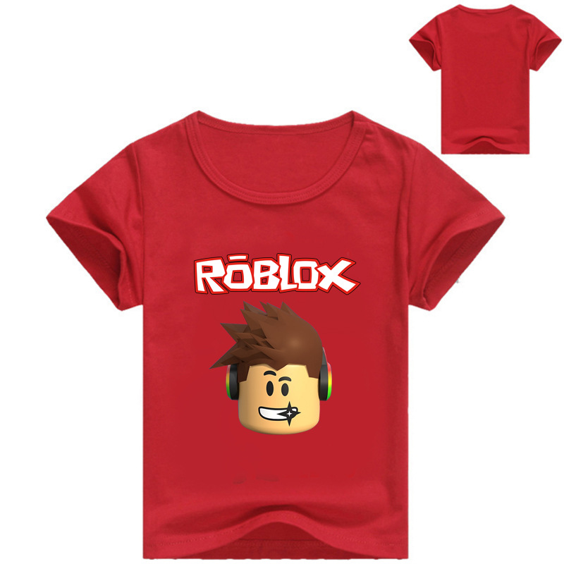 7 Colors Summer Children Clothes Cartoon Roblox T-shirt Kids Boys Girls Outfits Teenager Costume Short Sleeve Tees Casual Tops