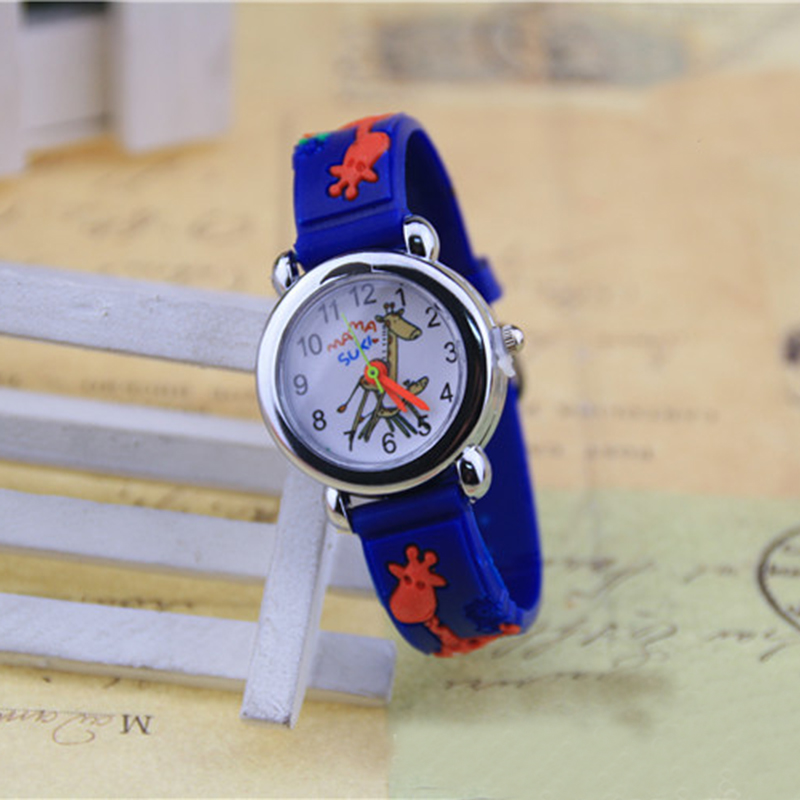 3D Soft Rubber Children's Wrist Watch New Cartoon Silicone Analog Wrist Watch Boys Girls Children Kids Watch Toy