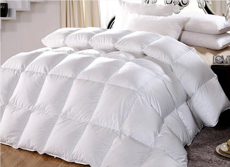 duvet filled white goose feather down tog value 10 5 for. Black Bedroom Furniture Sets. Home Design Ideas