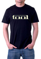 Tool T-Shirt, American Rock Logo Band Black Short Sleeve Tee Shirts 100% Cotton Letter Printed T Shirts Top Tee Plus Size