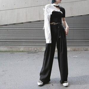 Image 4 - [EAM] Camisa de manga larga de una cara para mujer, camisa con personalidad Irregular, blusa de moda JX407, primavera y verano, 2020