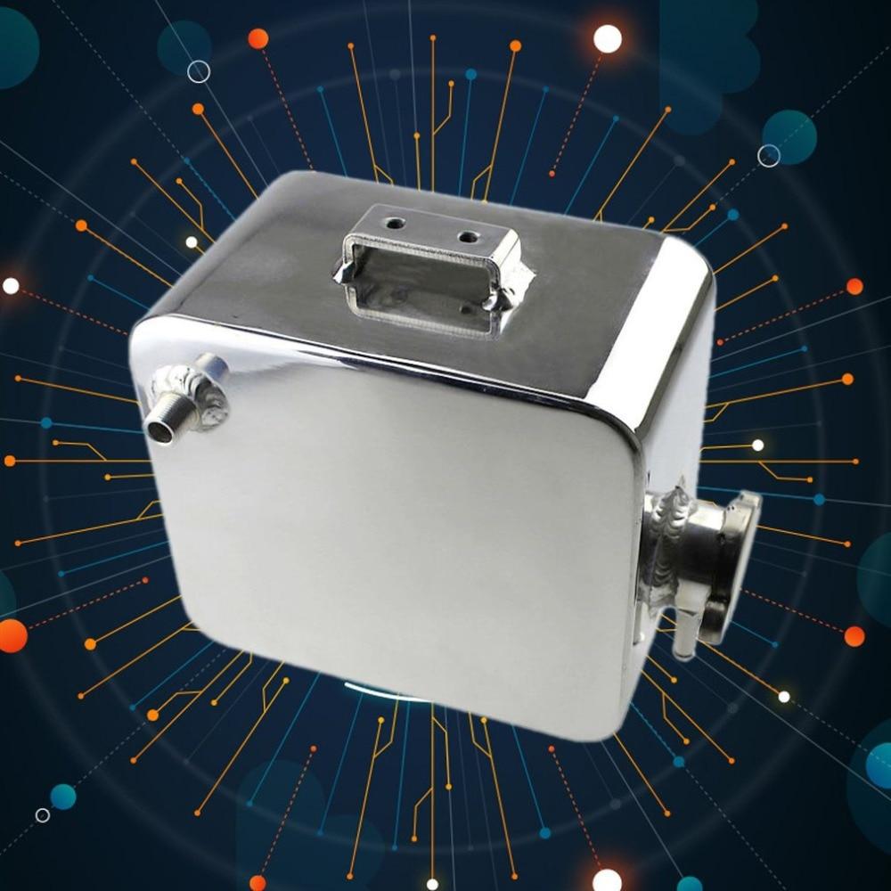 Réservoir et bouchon d'eau d'expansion en alliage poli universel en Aluminium de 2 litres 2L