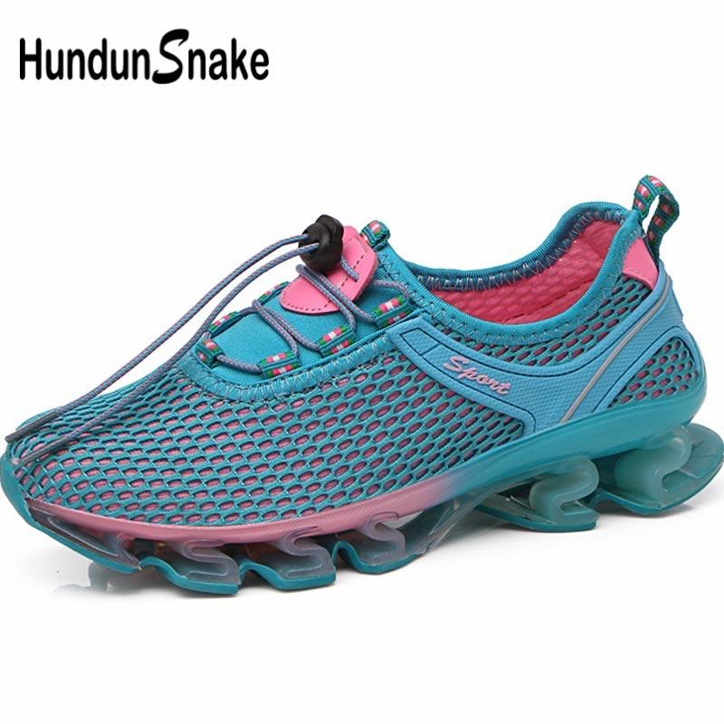 Hundunsnake Outdoor Sport Shoes Woman Sneakers Woman Sports Shoes Women's Running Shoes Summer Sapatos Femininos Blue Walk B-038