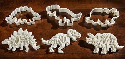 6pcs / set cookies dinosaur pemotong acuan biskuit set baking alat - Dapur, makan dan bar - Foto 2