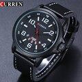 Marca de lujo de Reloj de Cuarzo de Los Hombres Correa de Cuero Fecha Reloj Casual Fashion Relojes Militar Hombres Reloj Hombre Montre 2017