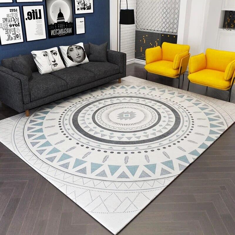 Tapis de chevet géométrique de style nordique, tapis de table basse de salon de grande taille, tapis de sol de grande taille, tapis de bureau de décoration