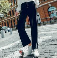 Artfeel 2018 Autumn Fashion Women's Harem Pants New High Waist Female Casual Wide Leg Pants Streetwear Ninth Pants Plus Size