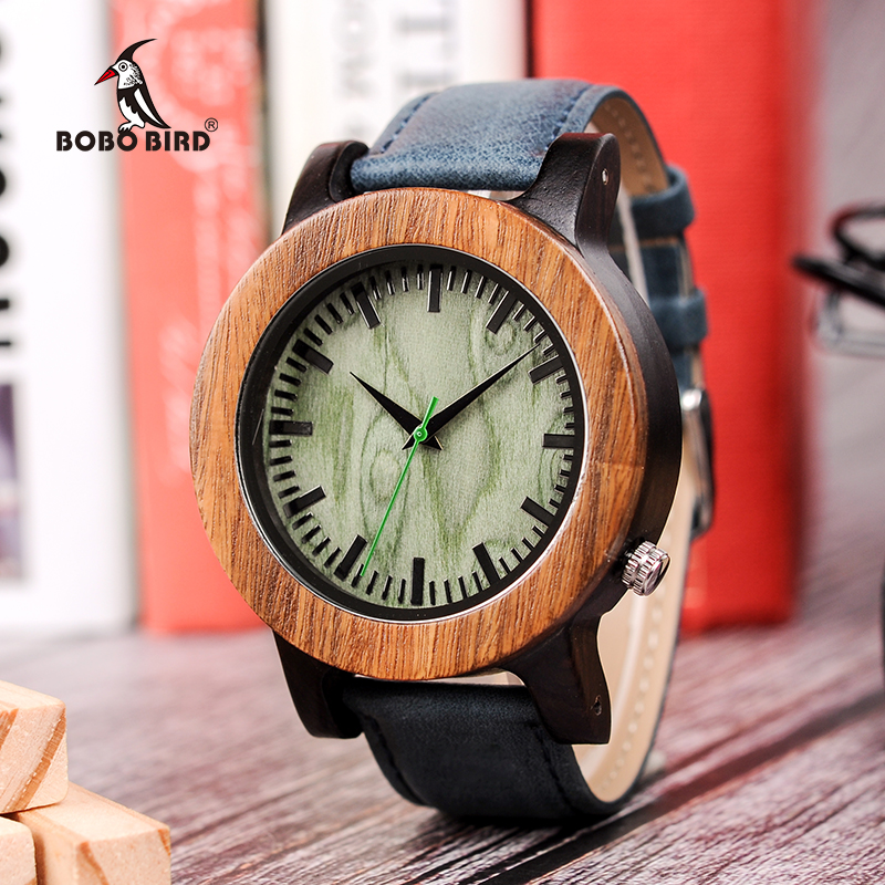 BOBO BIRD Big Size Mens Wood Watch Timepieces Luxury Quartz Wristwatches in Wooden Gift Box Dropshipping bobo bird m29 mens watch red sandalwood analog wooden quartz watch with luxury watch famous brand in gift box free shipping