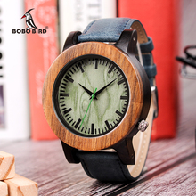 BOBO BIRD Big Size Mens Wood Watch Timepieces Luxury Quartz Wristwatches in Wooden Gift Box Dropshipping