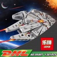 1381pcs Star Wars 05007 Millennium Falcon Figure Toys Building Blocks Marvel Minifigures Kids Toy Compatible With
