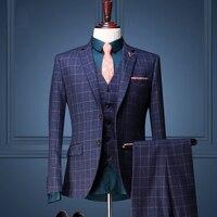 Brand Men Clothing Four Seasons Men Formal Wedding Dress Suit Sets Suit Coat Vest Suit Pant