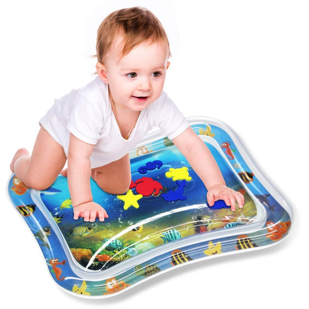 Baby Kids water play mat Inflatable Infant Tummy Time