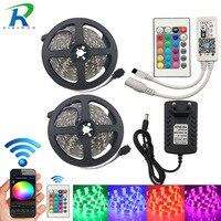 RGB LED Strip Light 5050 LED Fita LED Strip 5050 RGB Set 12 Meter RGB LED
