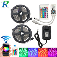 RGB LED Strip Light 5050 LED Fita 5050 RGB Set 5 Meter Strip LED RGB Stripe
