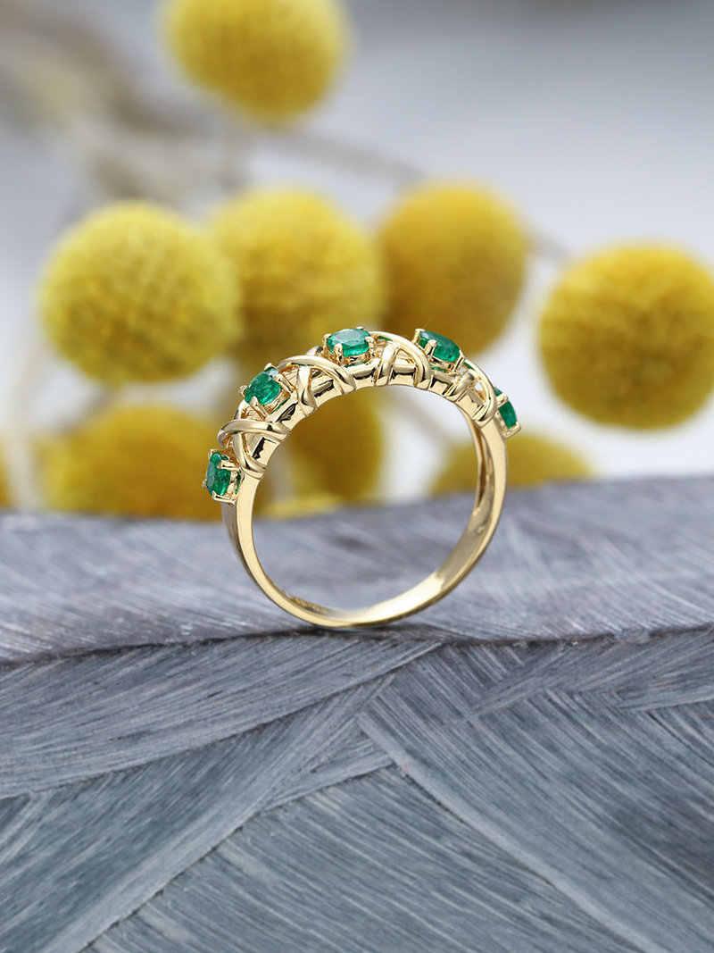 ทองสีสีเขียวคริสตัล Cross งานแต่งงานสำหรับเจ้าสาว Zircon หมั้นของขวัญ Charms Anel แฟชั่นเครื่องประดับ